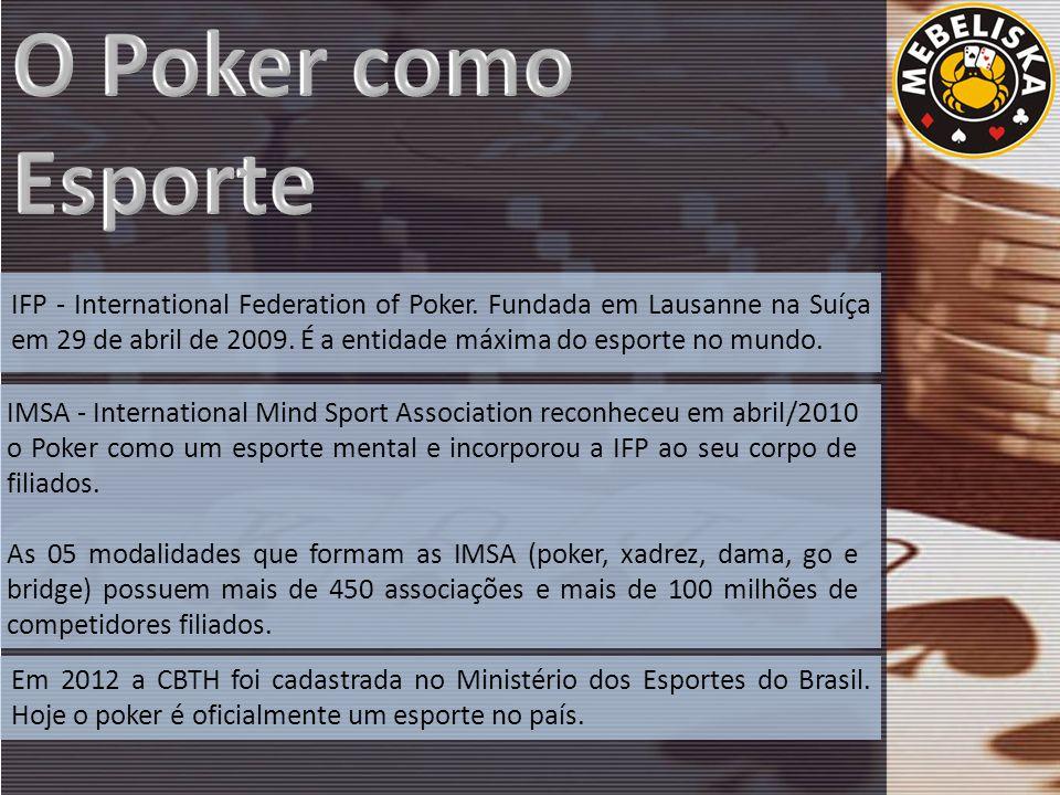 IFP - International Federation of Poker. Fundada em Lausanne na Suíça em 29 de abril de 2009.