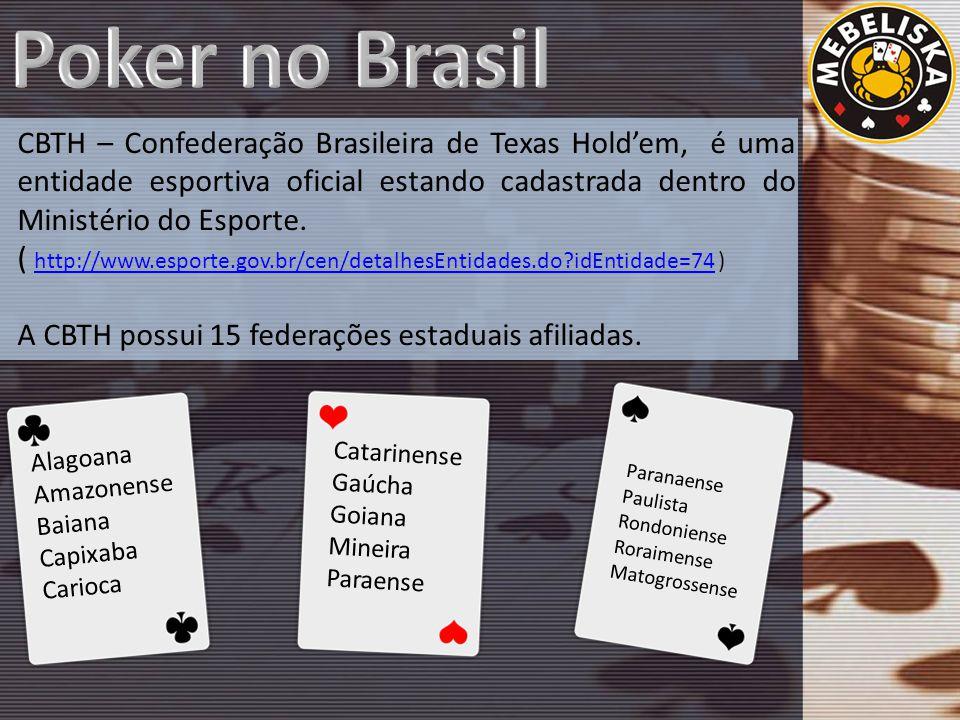 CBTH – Confederação Brasileira de Texas Hold'em, é uma entidade esportiva oficial estando cadastrada dentro do Ministério do Esporte.