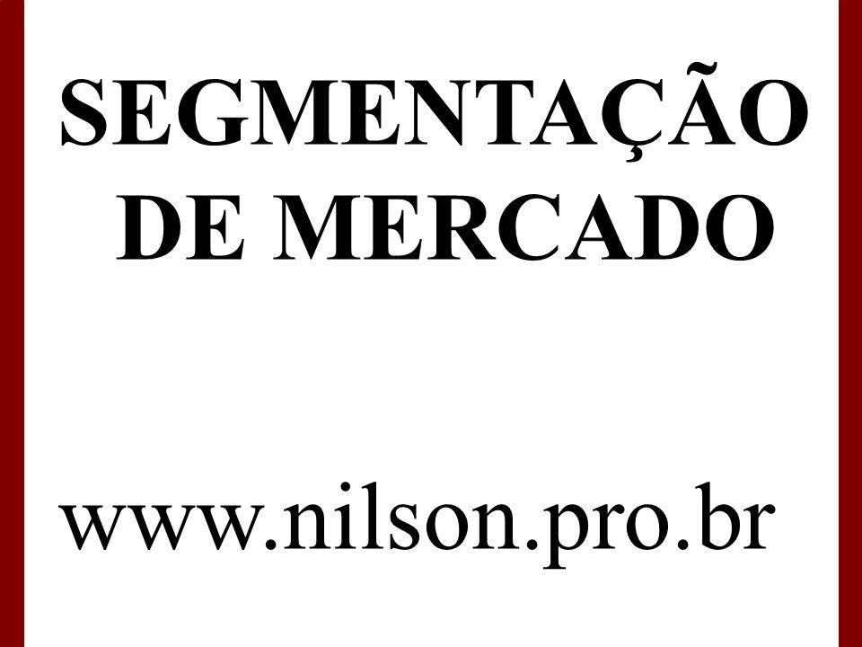 www.nilson.pro.br SEGMENTAÇÃO DE MERCADO