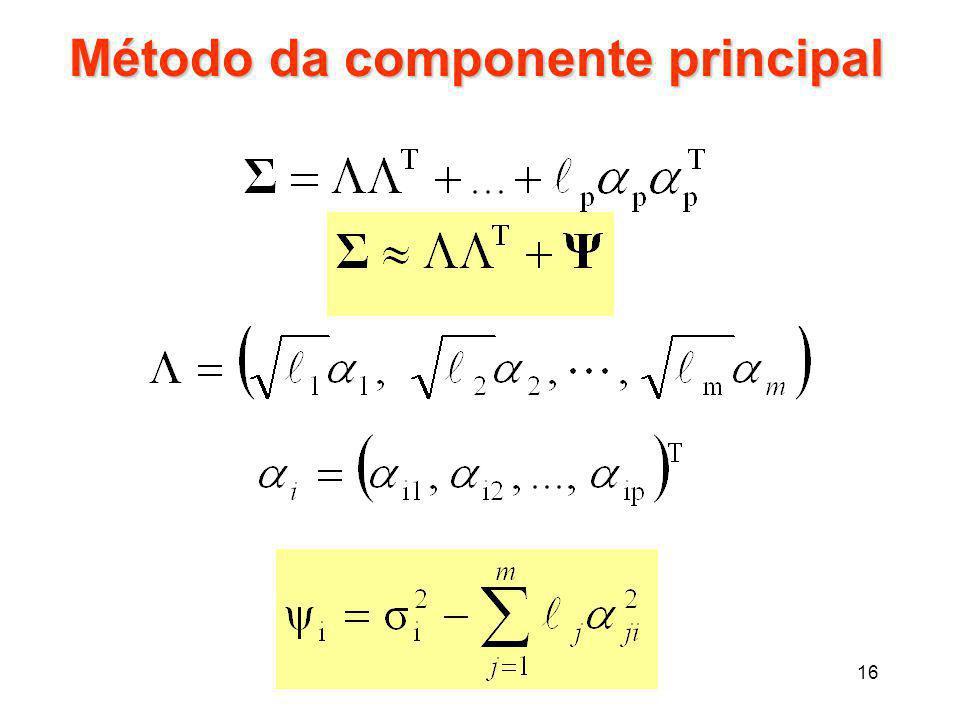 16 Método da componente principal