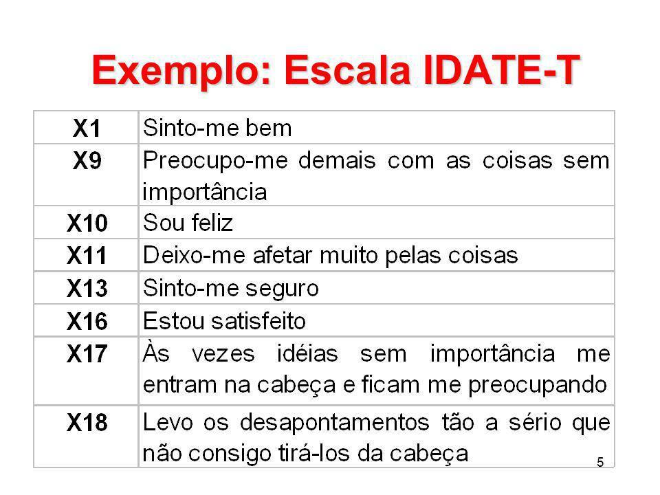 5 Exemplo: Escala IDATE-T