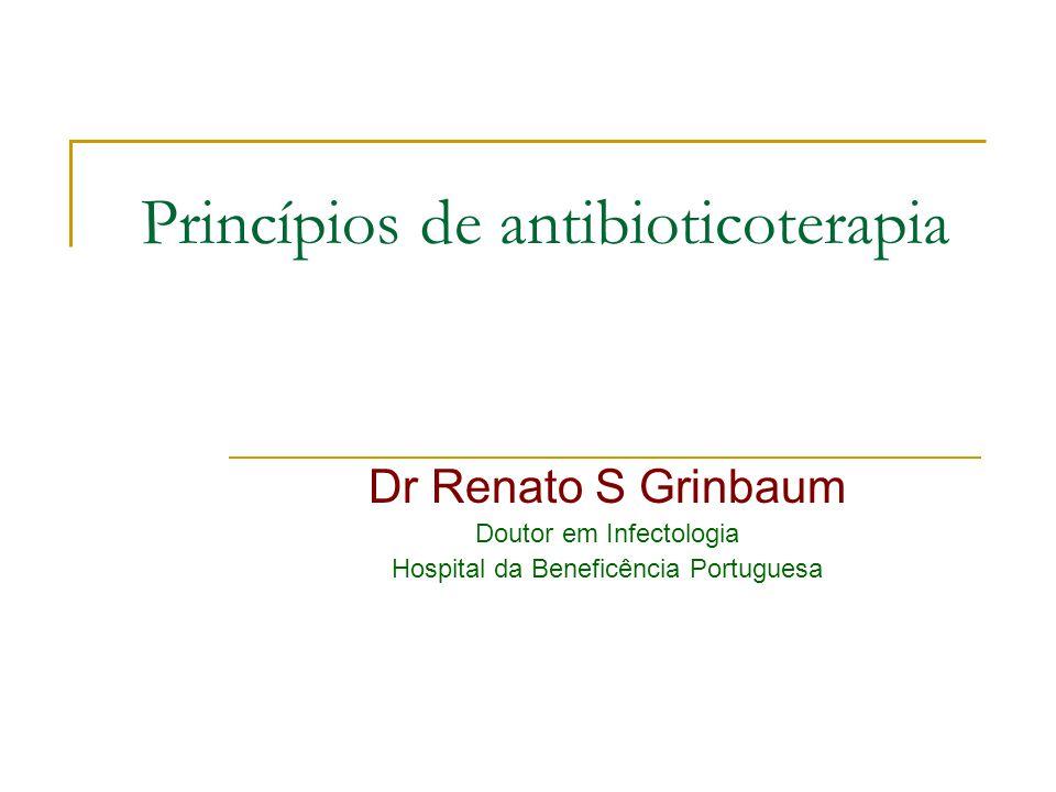 Resumindo Ser bom conhecedor de antibióticos consite em: 1.