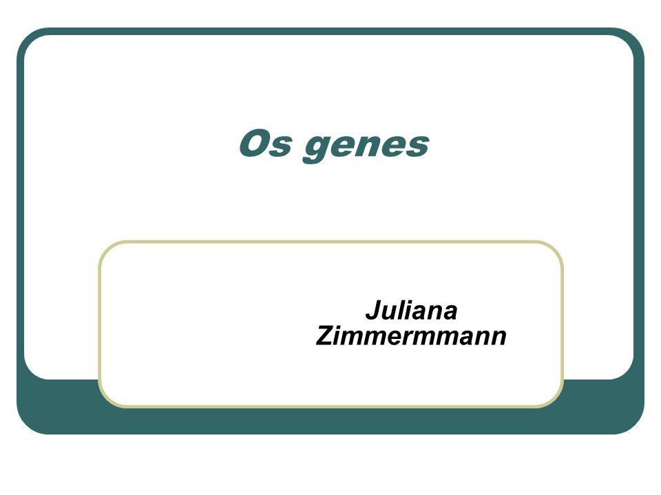 Os genes Juliana Zimmermmann