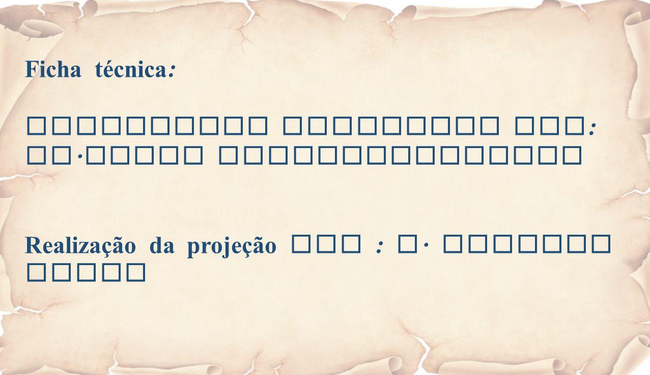 Ficha técnica : Eucaristia Celebrada por : Fr. Jacob Puthiyaparampil Realização da projeção por : A. Alberto Sousa