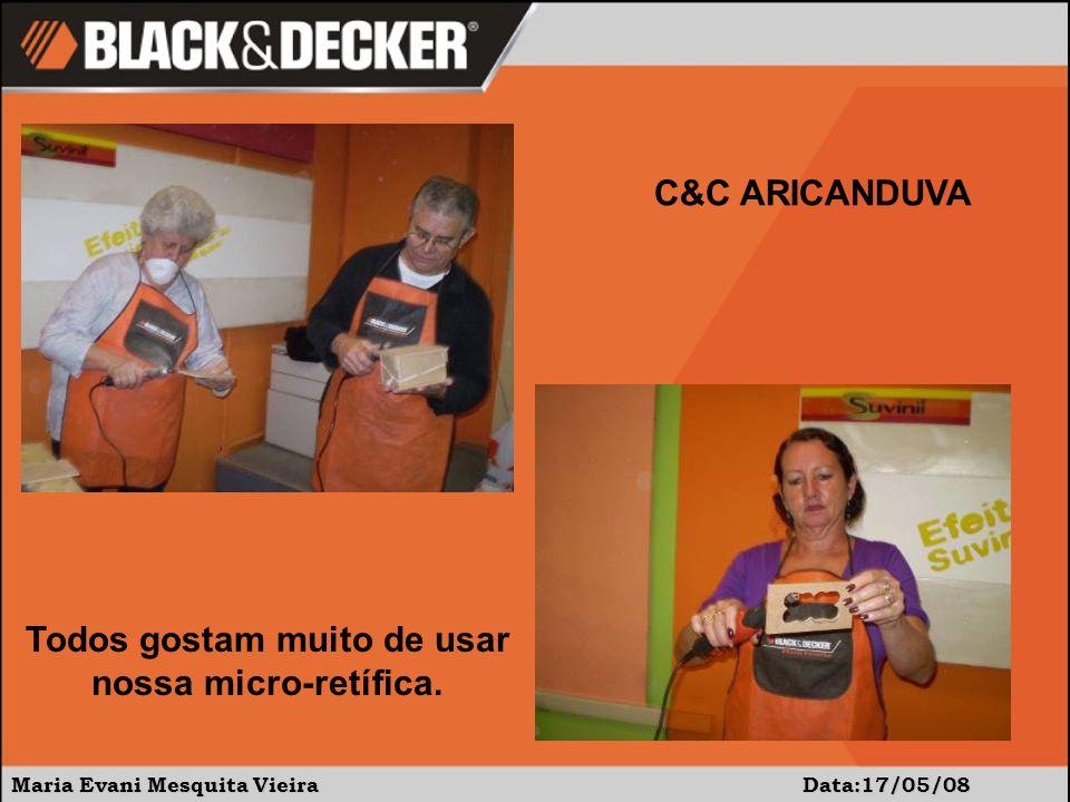 Maria Evani Mesquita Vieira Data:15/05/08 C&C ARICANDUVA A dificuldade deste projeto é o tamanho (pequeno) e cheio de curvas...