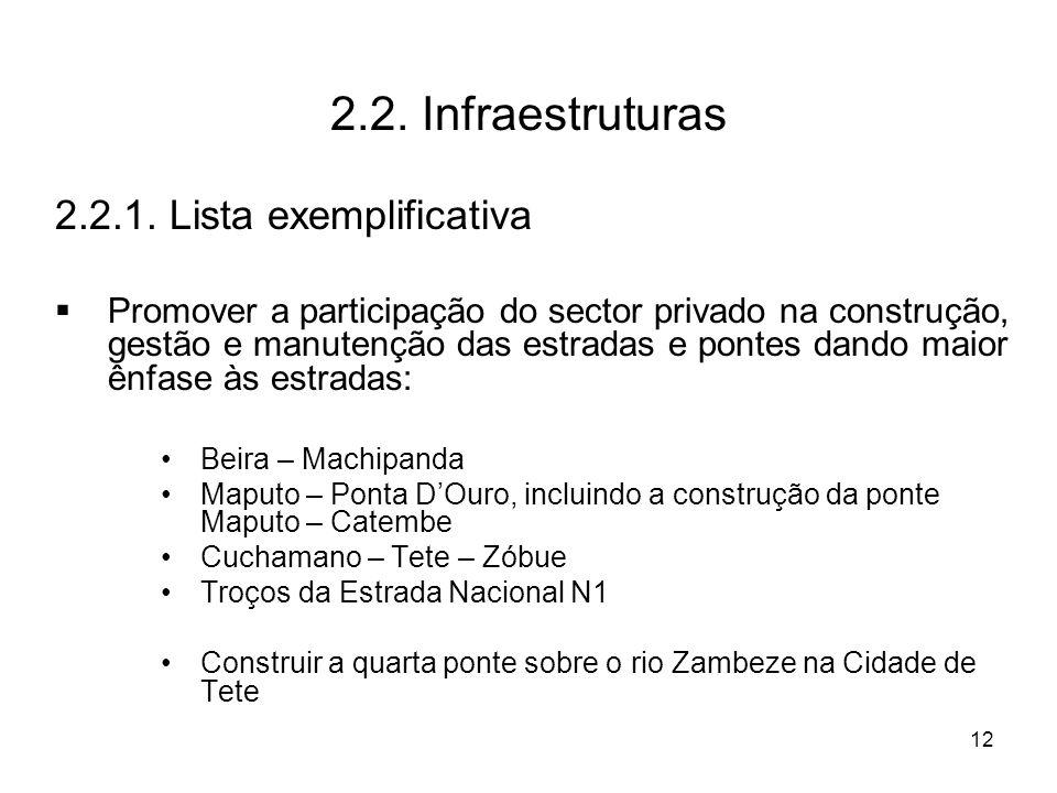 12 2.2. Infraestruturas 2.2.1.