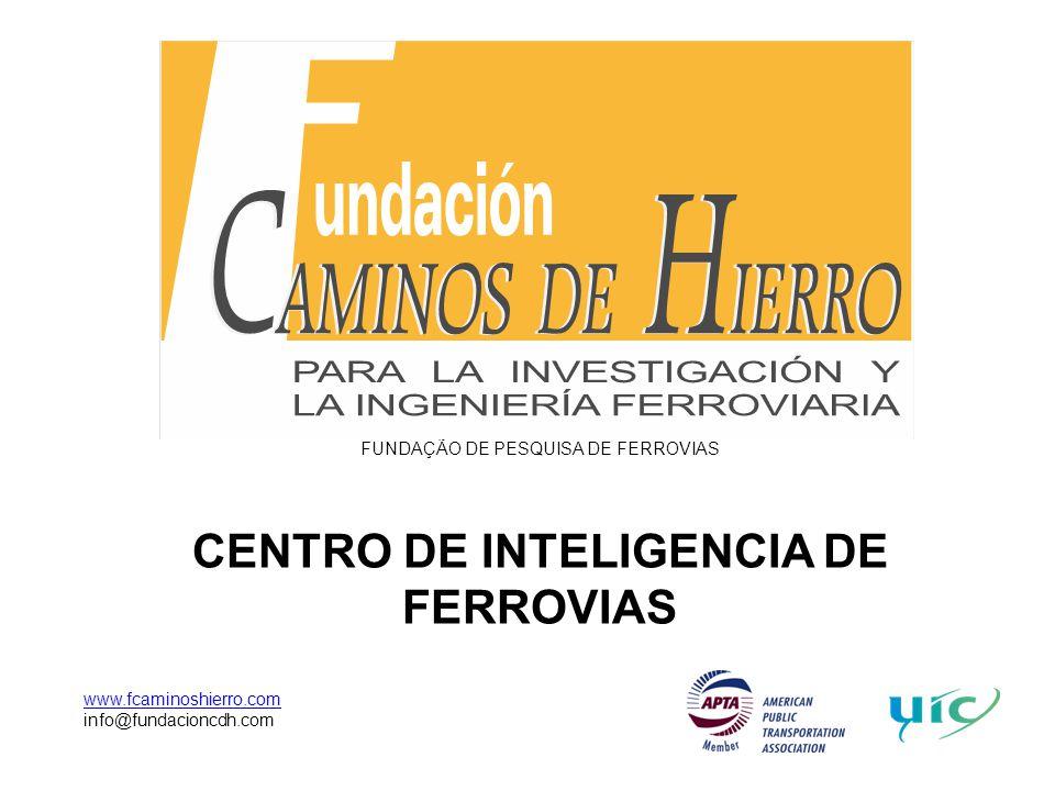 FUNDAÇÃO DE PESQUISA DE FERROVIAS CENTRO DE INTELIGENCIA DE FERROVIAS www.fcaminoshierro.com info@fundacioncdh.com