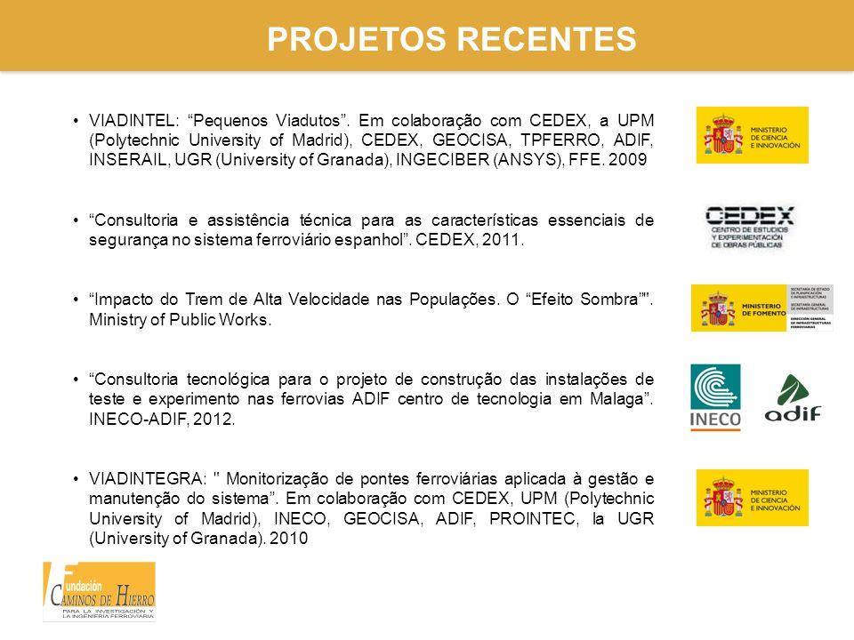 """PROJETOS RECENTES VIADINTEL: """"Pequenos Viadutos"""". Em colaboração com CEDEX, a UPM (Polytechnic University of Madrid), CEDEX, GEOCISA, TPFERRO, ADIF, I"""