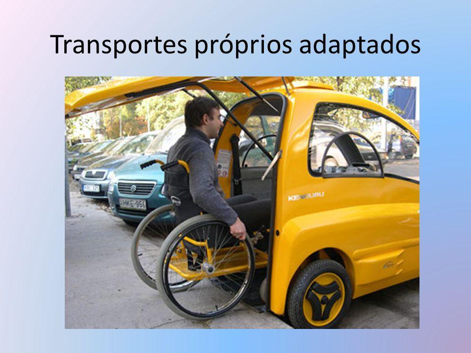 Transportes próprios adaptados