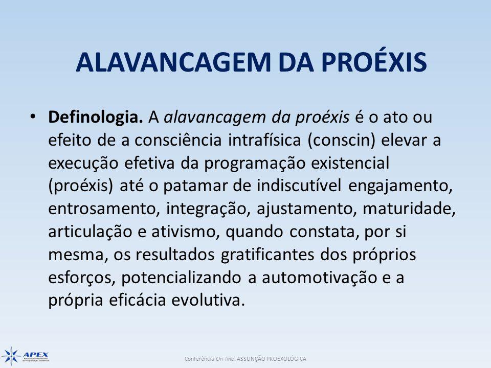 Conferência On-line: ASSUNÇÃO PROEXOLÓGICA FATUÍSTICA Parafatologia: – o amparo extrafísico de função; – a inclusão do autoparapsiquismo na consecução da proéxis; – a atenção às cláusulas pétreas da autoproéxis;.