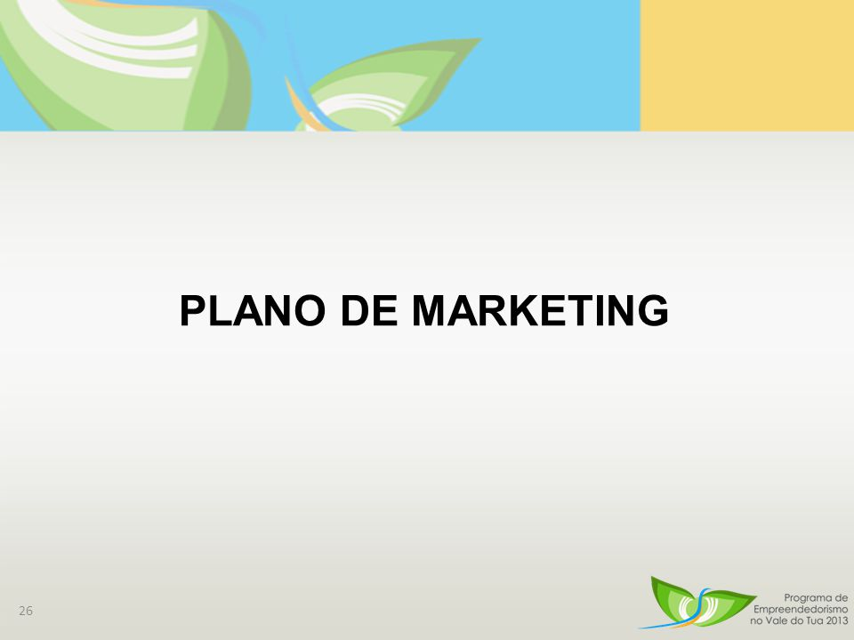 26 PLANO DE MARKETING