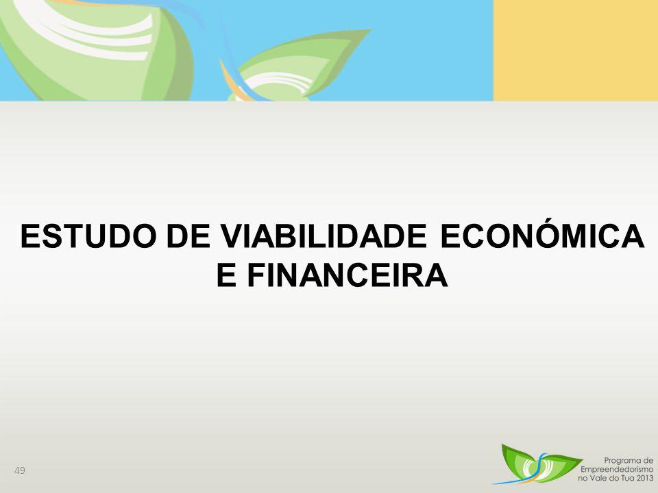 49 ESTUDO DE VIABILIDADE ECONÓMICA E FINANCEIRA