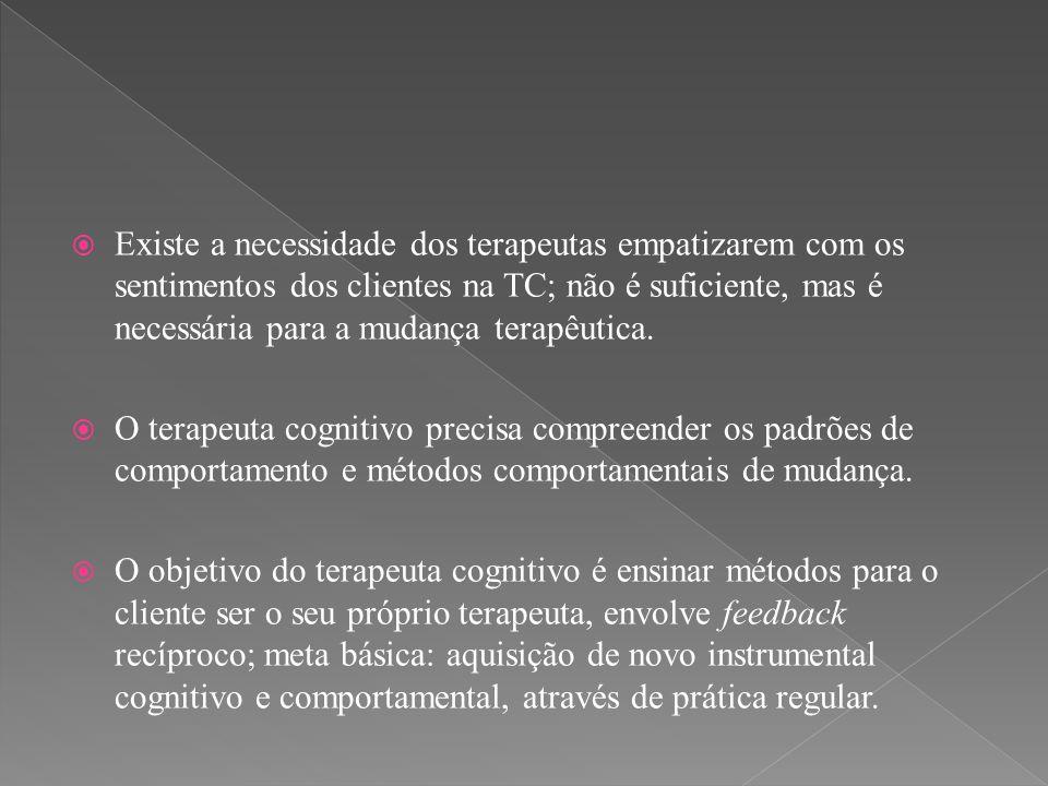  O processo de reestruturação dos pensamentos automáticos envolve a consideração de explanações alternativas e sua adoção como parte do repertório cognitivo do indivíduo.