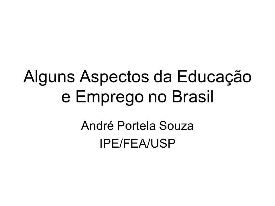 Alguns Aspectos da Educação e Emprego no Brasil André Portela Souza IPE/FEA/USP