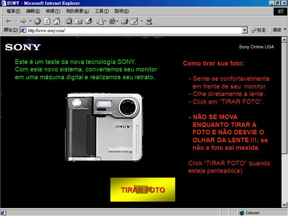 TIRAR FOTO TIRAR FOTO Como tirar sua foto: - Sente-se confortavelmente em frente de seu monitor.