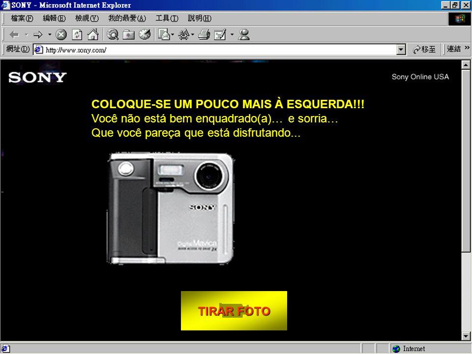 """TIRAR FOTO TIRAR FOTO Como tirar sua foto: - Sente-se confortavelmente em frente de seu monitor. - Olhe diretamente à lente. - Click em """"TIRAR FOTO""""."""