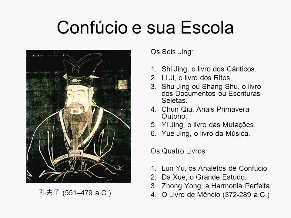 Confúcio e sua Escola Os Seis Jing: 1.Shi Jing, o livro dos Cânticos. 2.Li Ji, o livro dos Ritos. 3.Shu Jing ou Shang Shu, o livro dos Documentos ou E
