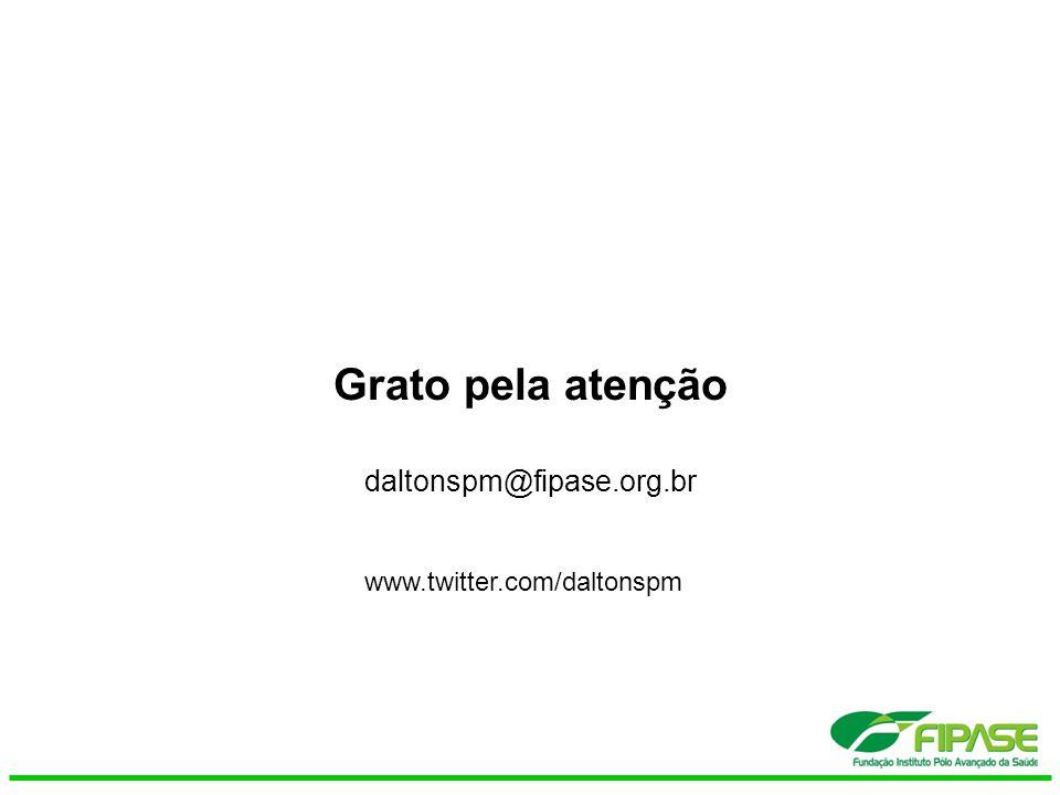 Grato pela atenção daltonspm@fipase.org.br www.twitter.com/daltonspm