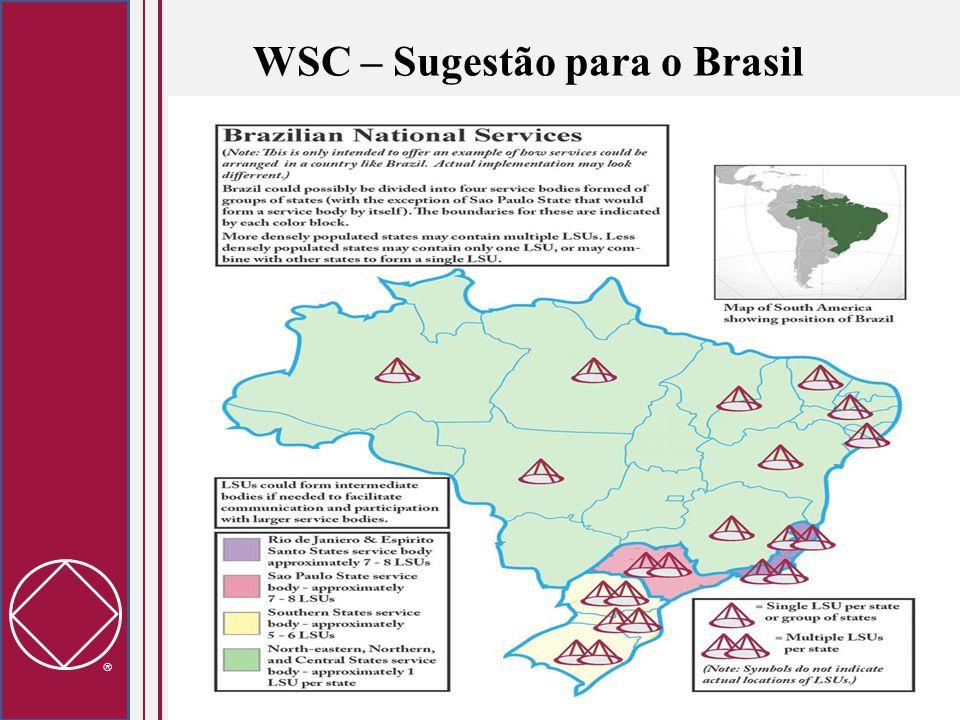  WSC – Sugestão para o Brasil