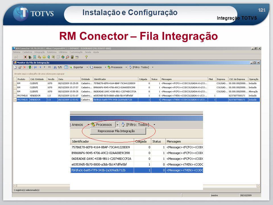 121 Instalação e Configuração Integração TOTVS RM Conector – Fila Integração