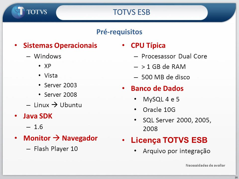 Sistemas Operacionais – Windows XP Vista Server 2003 Server 2008 – Linux  Ubuntu Java SDK – 1.6 Monitor  Navegador – Flash Player 10 Pré-requisitos