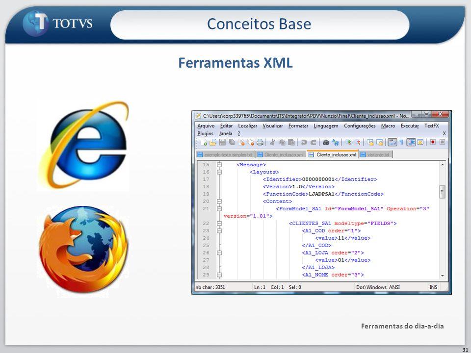 Ferramentas XML Ferramentas do dia-a-dia Conceitos Base 31