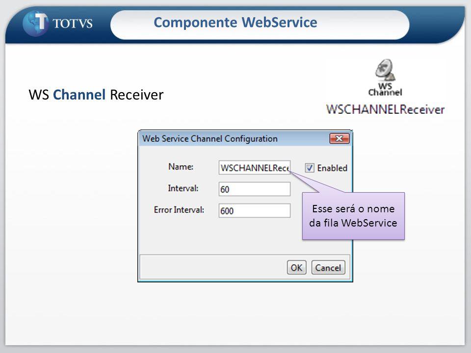 Componente WebService WS Channel Receiver Esse será o nome da fila WebService