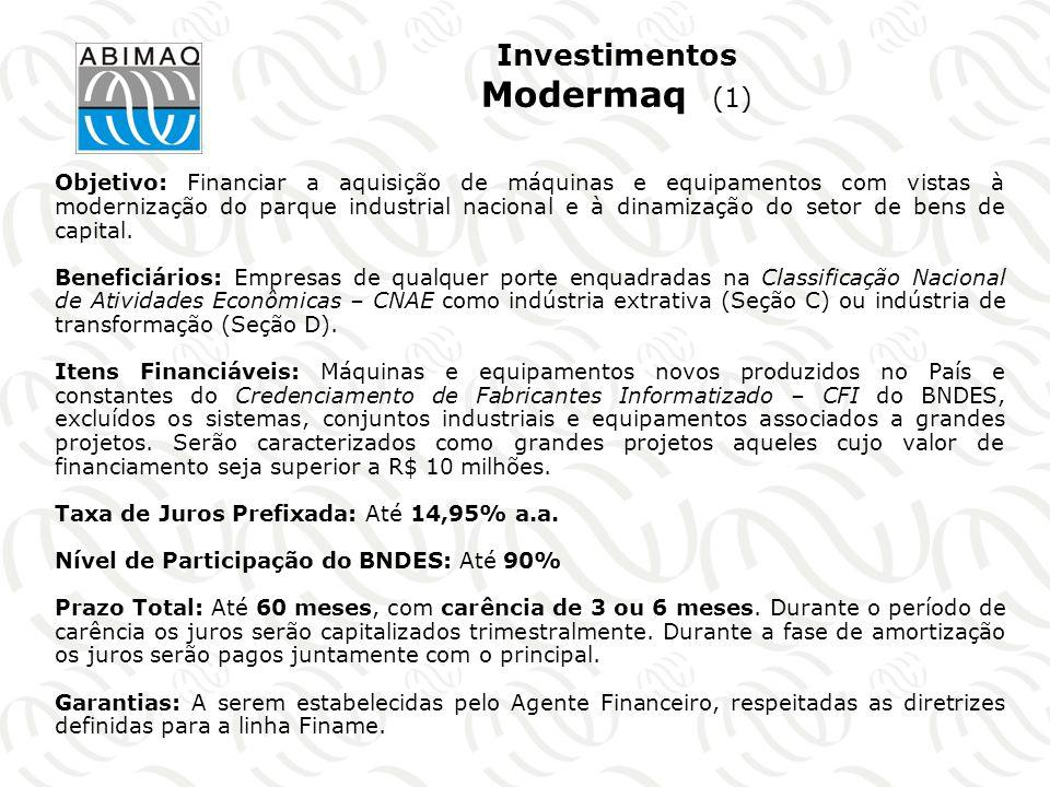 Programas Regionais do BNDES Objetivo: elevar os níveis de investimentos nas áreas menos desenvolvidas do País, visando a atenuação dos desequilíbrios regionais.