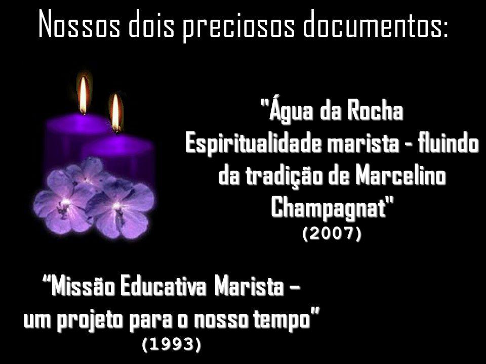 29 Nossos dois preciosos documentos: Missão Educativa Marista – um projeto para o nosso tempo (1993) Água da Rocha Espiritualidade marista - fluindo da tradição de Marcelino Champagnat (2007)
