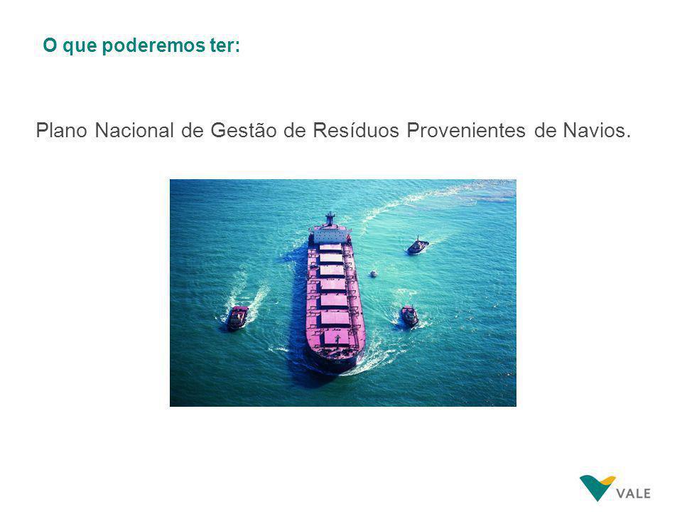 O que poderemos ter: Plano Nacional de Gestão de Resíduos Provenientes de Navios.