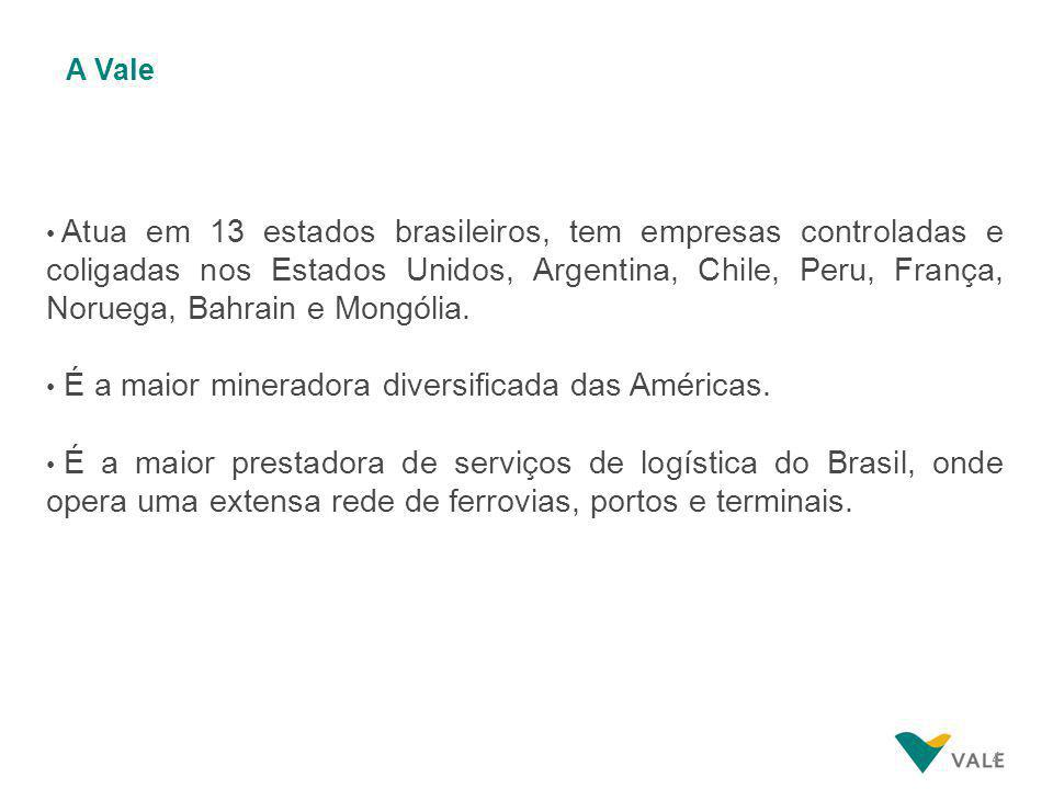 4 Atua em 13 estados brasileiros, tem empresas controladas e coligadas nos Estados Unidos, Argentina, Chile, Peru, França, Noruega, Bahrain e Mongólia.