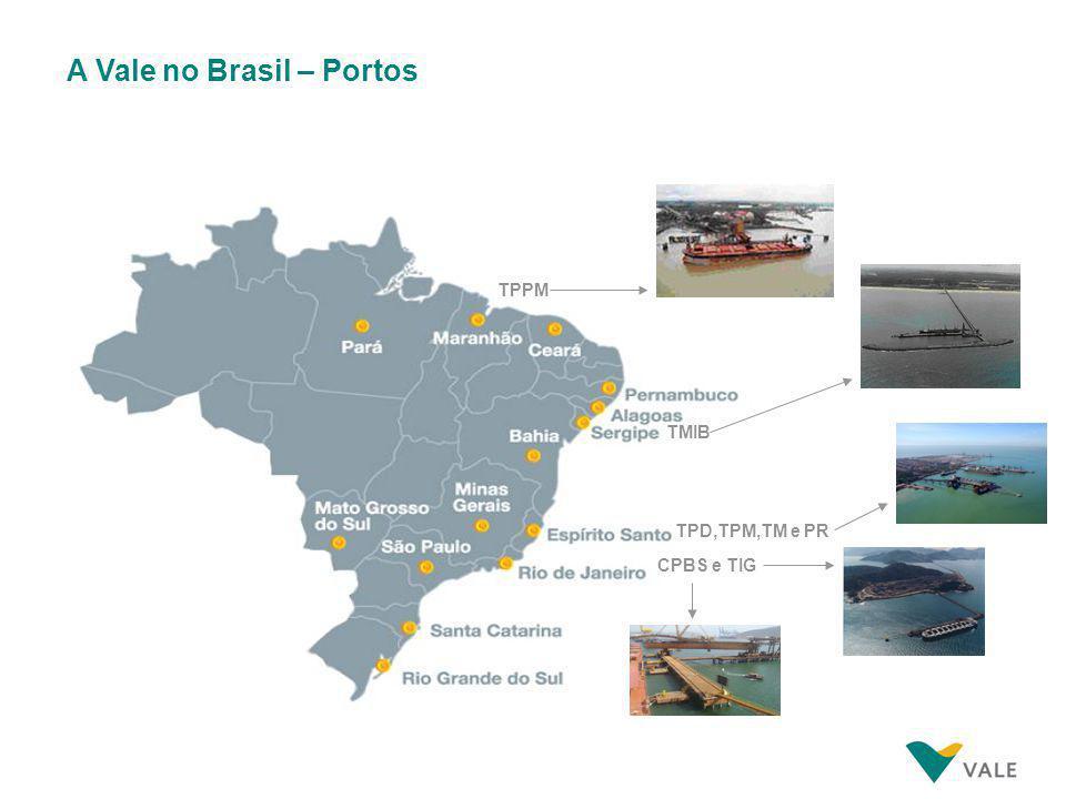 A Vale no Brasil – Portos TMIB TPD,TPM,TM e PR CPBS e TIG TPPM