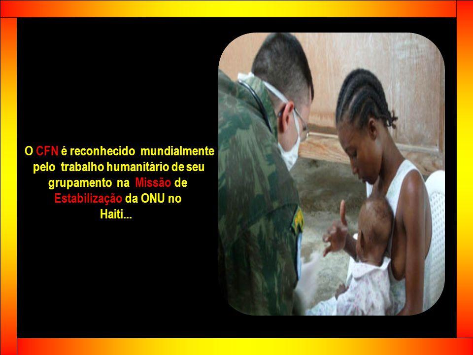 Nos últimos anos... por solicitação da ONU... o Corpo de Fuzileiros Navais tem participado ativamente de Missões de Paz em El Salvador... Honduras...