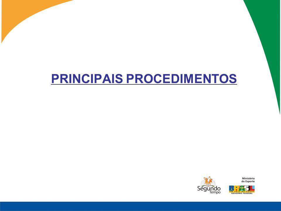 PRINCIPAIS PROCEDIMENTOS