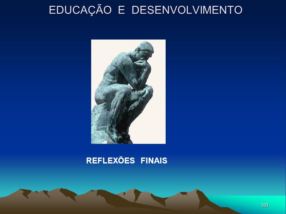 101 EDUCAÇÃO E DESENVOLVIMENTO REFLEXÕES FINAIS