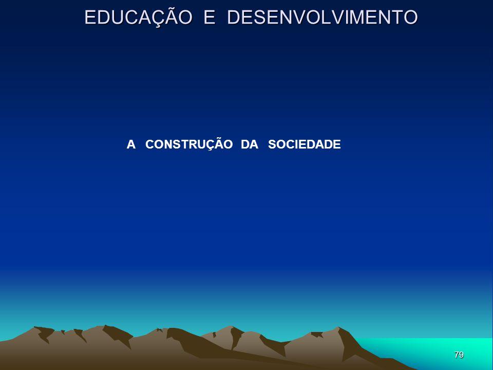 79 EDUCAÇÃO E DESENVOLVIMENTO A CONSTRUÇÃO DA SOCIEDADE