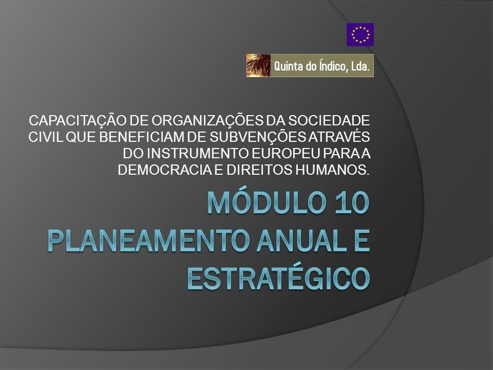 CAPACITAÇÃO DE ORGANIZAÇÕES DA SOCIEDADE CIVIL QUE BENEFICIAM DE SUBVENÇÕES ATRAVÉS DO INSTRUMENTO EUROPEU PARA A DEMOCRACIA E DIREITOS HUMANOS.