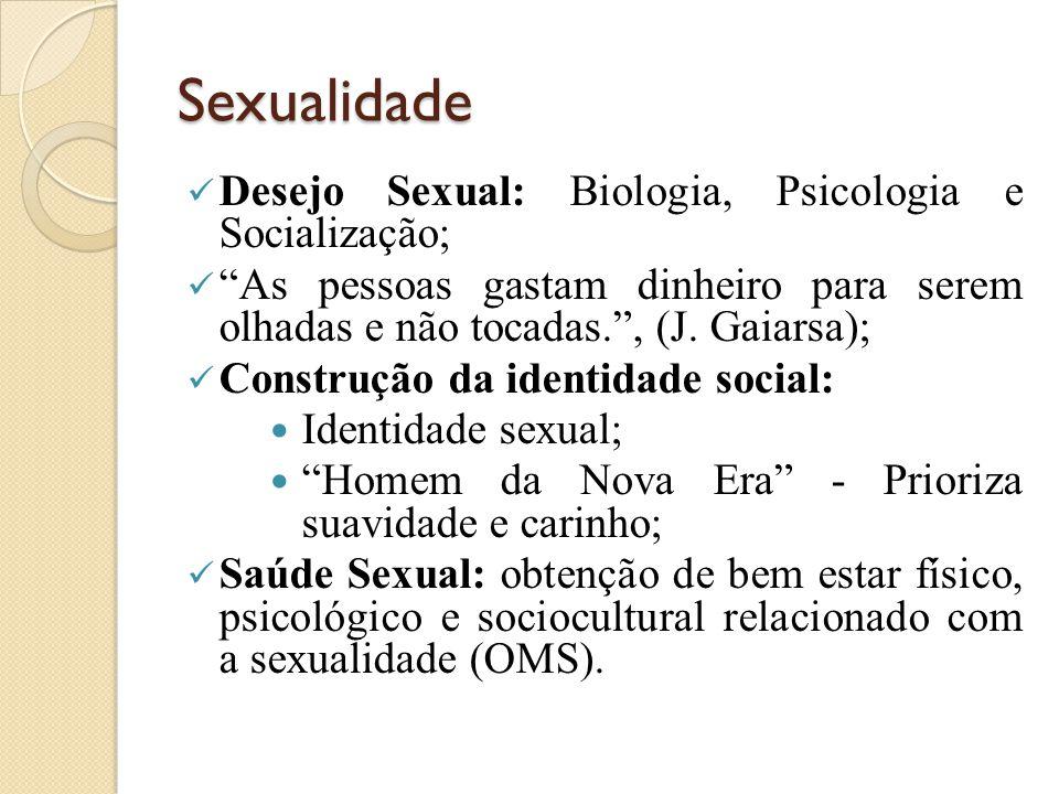Sexualidade Desejo Sexual: Biologia, Psicologia e Socialização; As pessoas gastam dinheiro para serem olhadas e não tocadas. , (J.