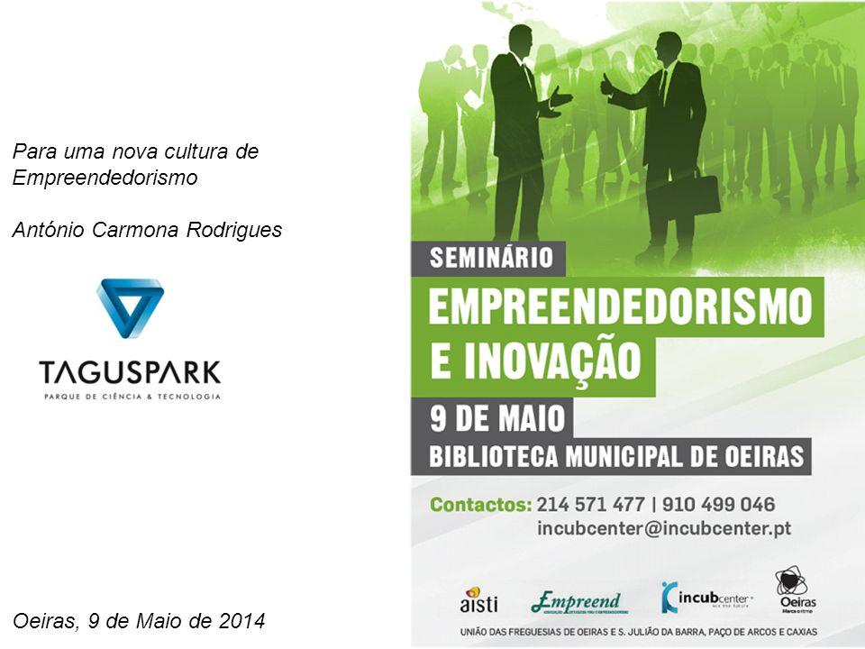 Oeiras, 9 de Maio de 2014 Para uma nova cultura de Empreendedorismo António Carmona Rodrigues