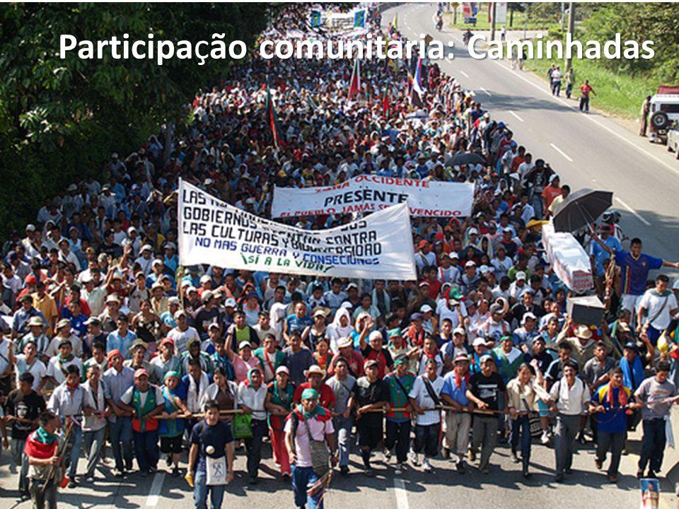 Participaão comunitaria: Caminhadas Participação comunitaria: Caminhadas