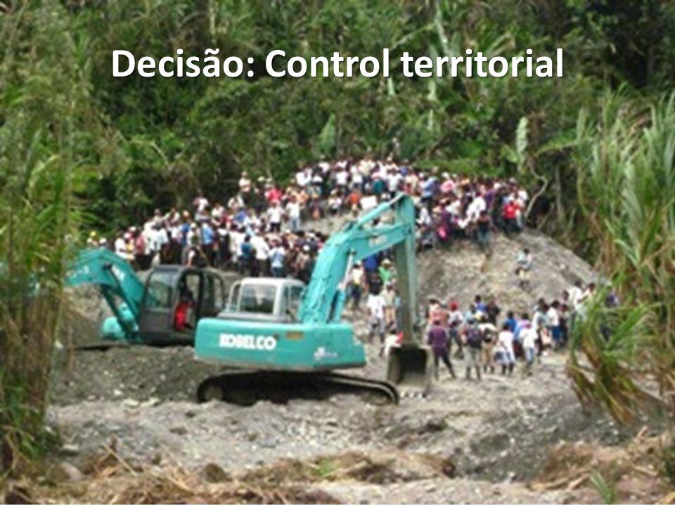 Decisão: Control territorial