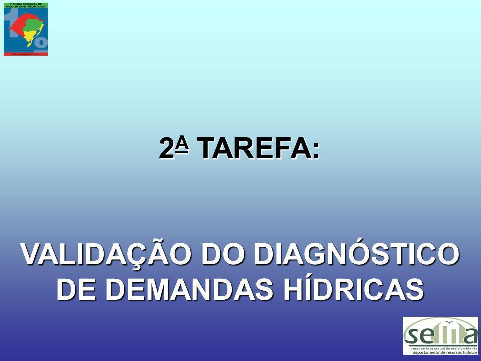 2 A TAREFA: VALIDAÇÃO DO DIAGNÓSTICO DE DEMANDAS HÍDRICAS