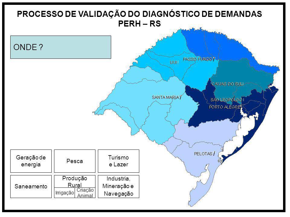 PROCESSO DE VALIDAÇÃO DO DIAGNÓSTICO DE DEMANDAS PERH – RS ONDE .