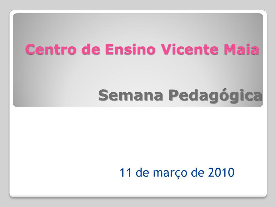 Centro de Ensino Vicente Maia Semana Pedagógica 11 de março de 2010