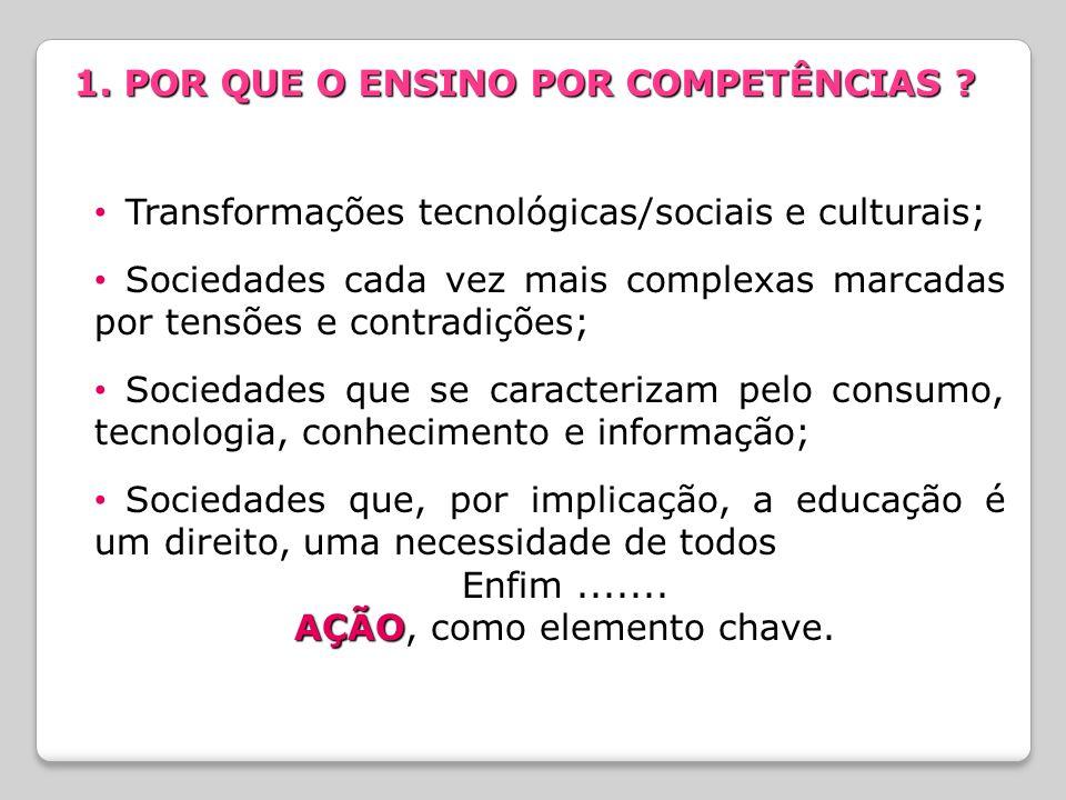 Transformações tecnológicas/sociais e culturais; Sociedades cada vez mais complexas marcadas por tensões e contradições; Sociedades que se caracteriza
