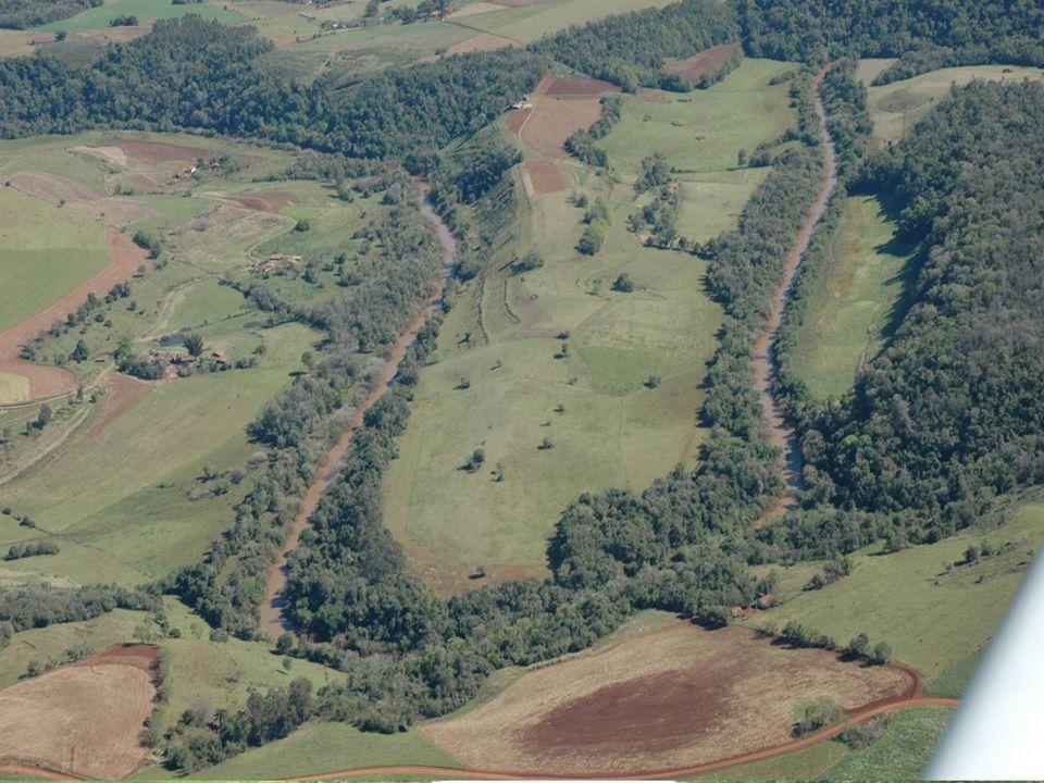Áreas de Preservação Permanente (APP) - Limites Cursos d'água.