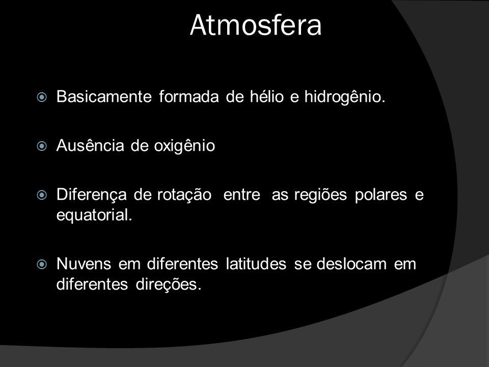 Atmosfera  Basicamente formada de hélio e hidrogênio.