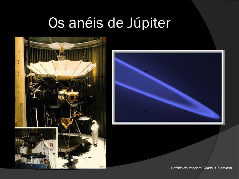 Os anéis de Júpiter Crédito da imagem:Calvin J. Hamilton