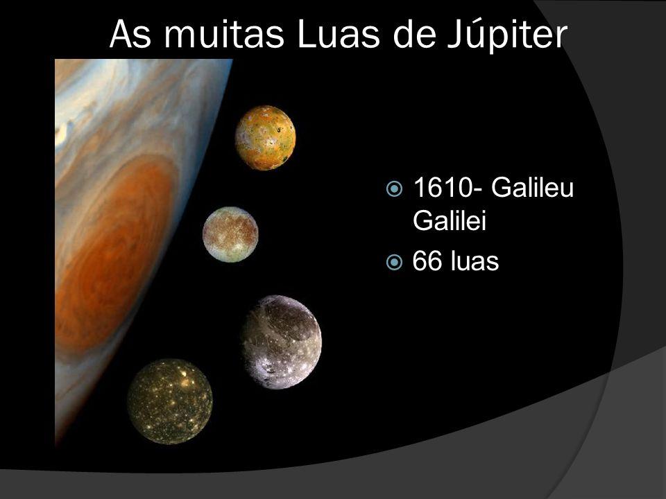 As muitas Luas de Júpiter  1610- Galileu Galilei  66 luas