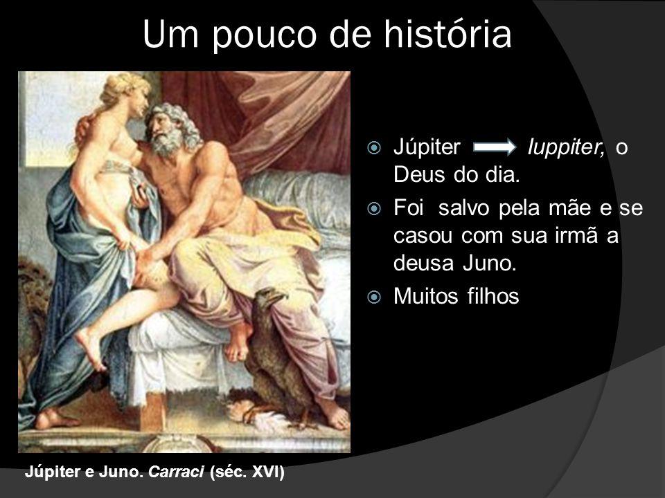 Um pouco de história  Júpiter Iuppiter, o Deus do dia.